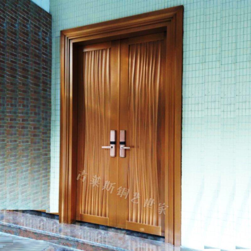 工程案例双开现代铜门GLS-TM-1020