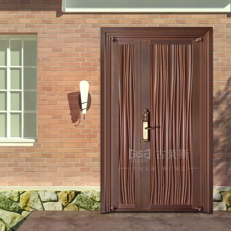 地下室铜门、别墅进户铜门大门,现代子母铜门GLS-TM-1020