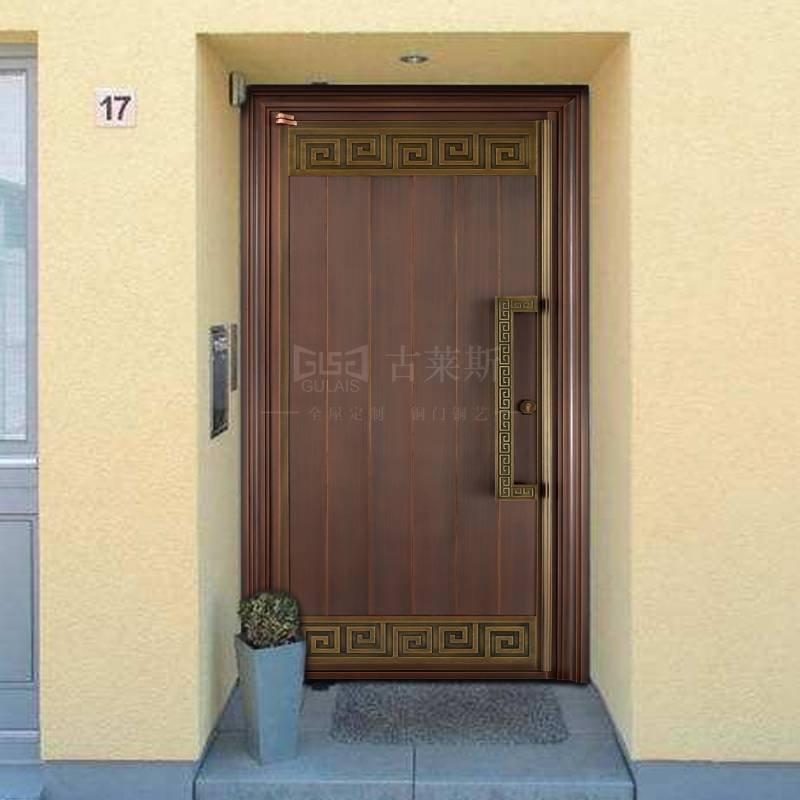 高端中式单开铜门、双开,子母铜门GLS-TM-1026