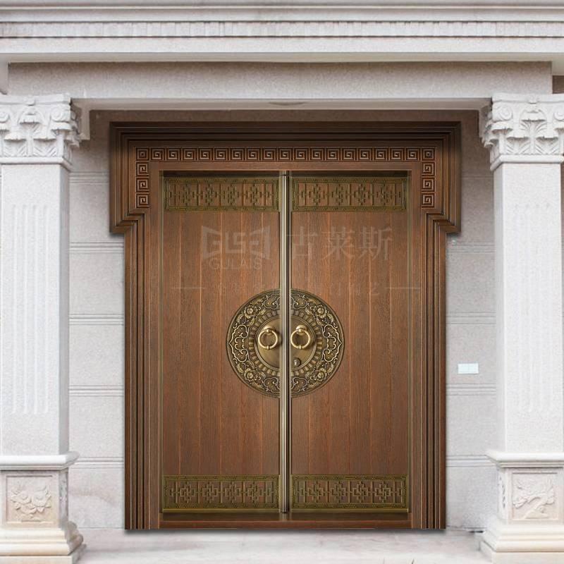 中式铜门,子母、单开,双开铜门GLS-TM-1008