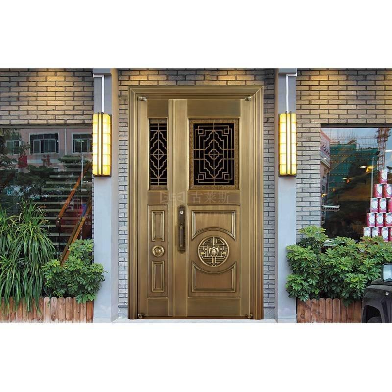简欧式铜门,双开单开,子母铜门GLS-TM-1088