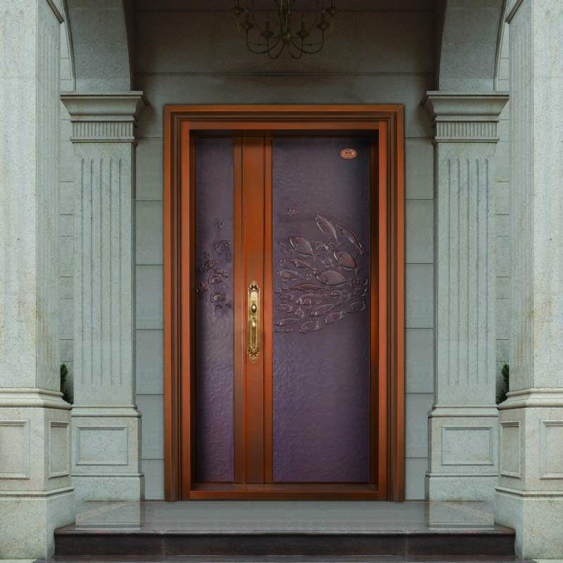 别墅入户铜门,别墅铜门定制GLS-TM-1058