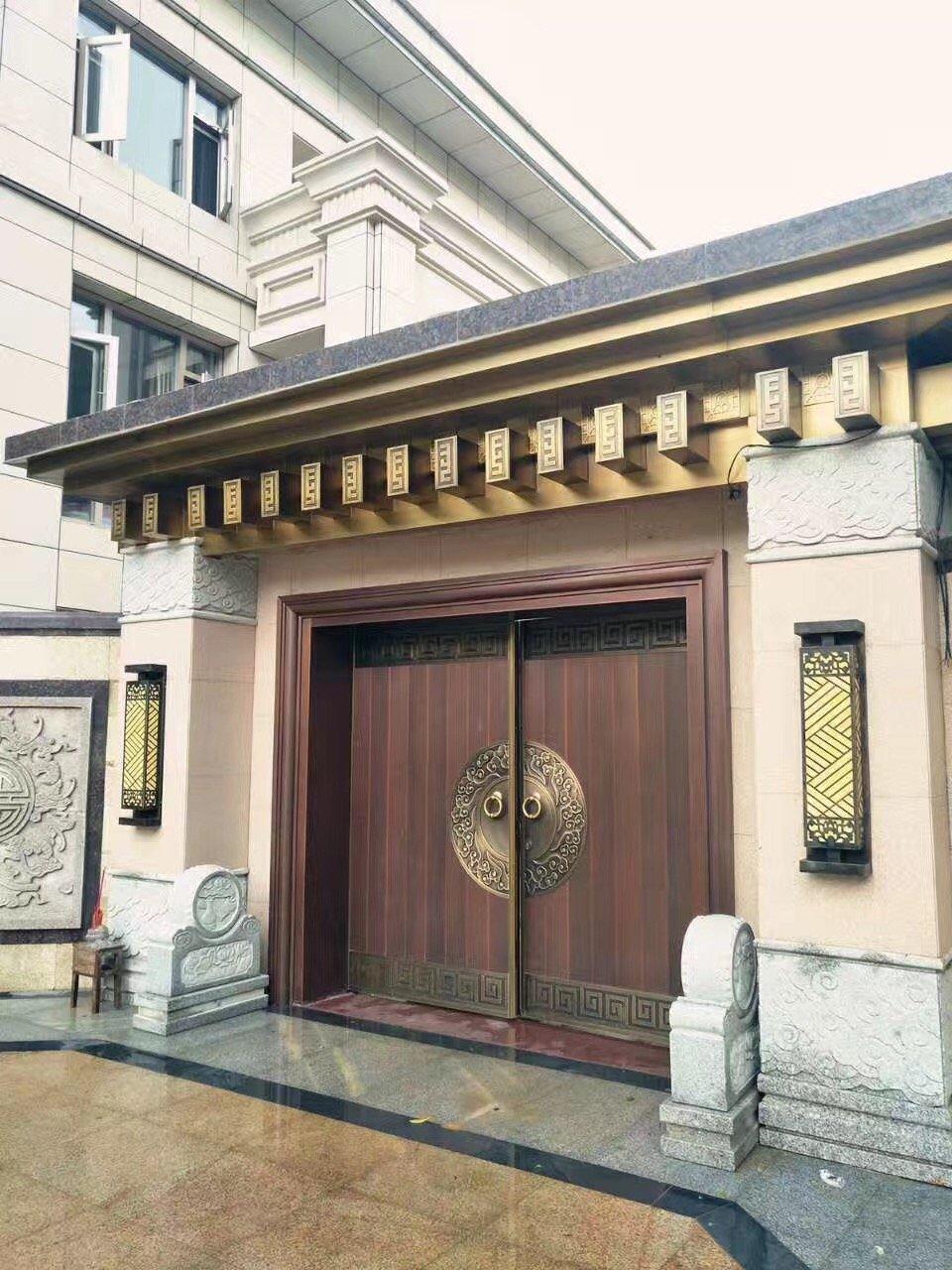 案例-中式铜门双开铜门GLS-TM-1008
