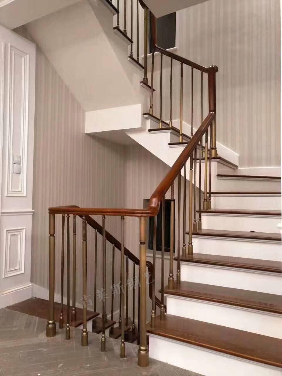 别墅纯铜楼梯立柱扶手
