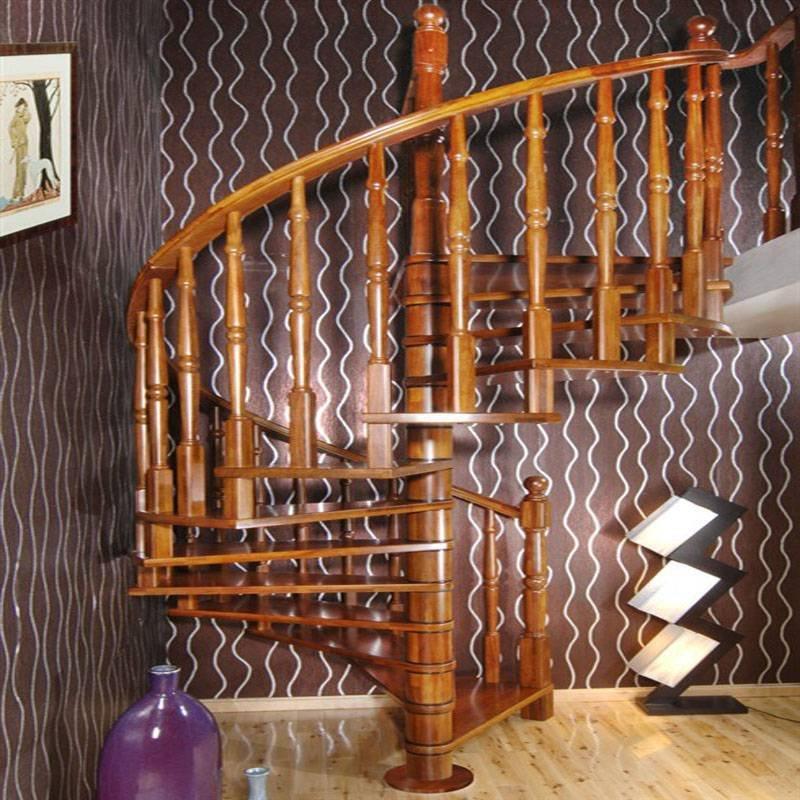 别墅古典中式GLS-118原木楼梯扶手