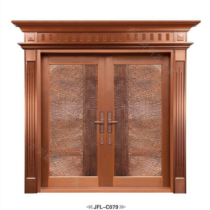 地下室双开铜门,进户铜门大门