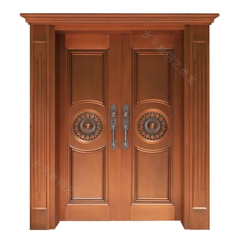 别墅简欧式双开铜门GLS-TM-1015