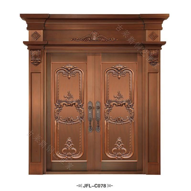 简欧式铜门,豪华铜门GLS-TM-1027