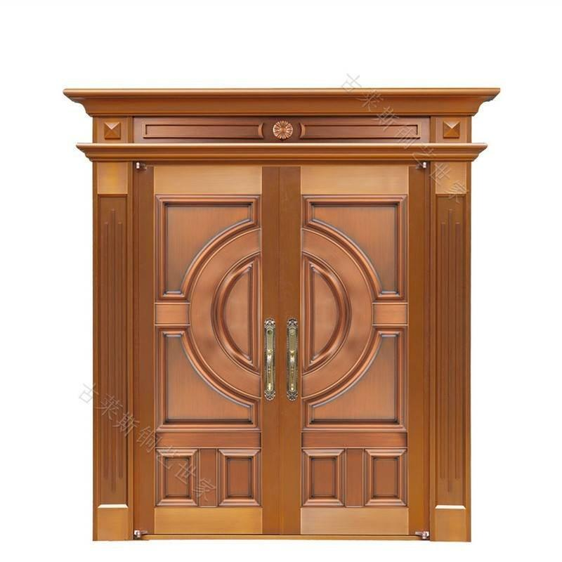 别墅铜门-豪华简中式铜门-双开铜门-GLS-TM-1086